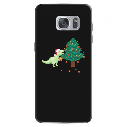 Christmas Trex Green Samsung Galaxy S7 Case Designed By Hasret