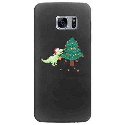 Christmas Trex Green Samsung Galaxy S7 Edge Case Designed By Hasret