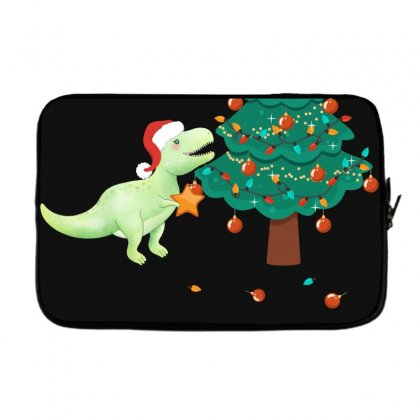 Christmas Trex Green Laptop Sleeve Designed By Hasret