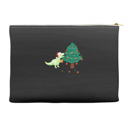 Christmas Trex Green Accessory Pouches Designed By Hasret
