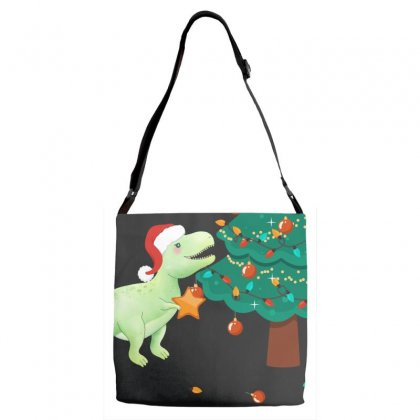 Christmas Trex Green Adjustable Strap Totes Designed By Hasret