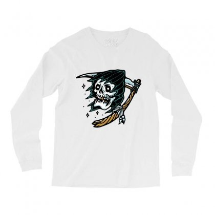 Grim Reaper Tattoo Long Sleeve Shirts Designed By Quilimo