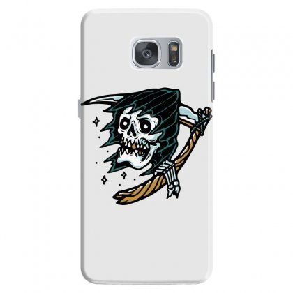 Grim Reaper Tattoo Samsung Galaxy S7 Case Designed By Quilimo