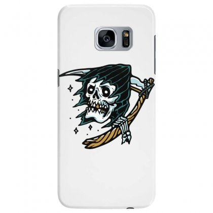 Grim Reaper Tattoo Samsung Galaxy S7 Edge Case Designed By Quilimo