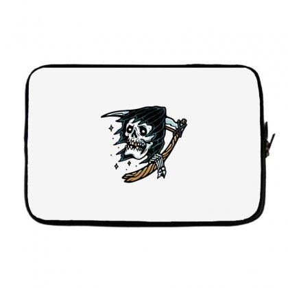 Grim Reaper Tattoo Laptop Sleeve Designed By Quilimo