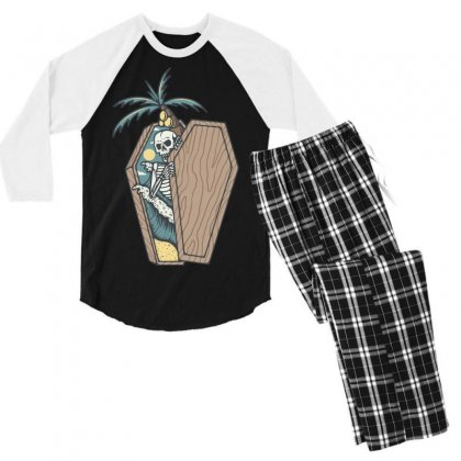 Rest In Paradise Men's 3/4 Sleeve Pajama Set Designed By Quilimo