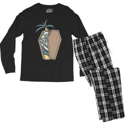 Rest In Paradise Men's Long Sleeve Pajama Set Designed By Quilimo