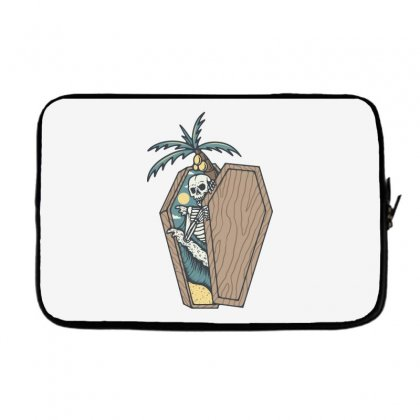 Rest In Paradise Laptop Sleeve Designed By Quilimo