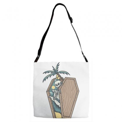 Rest In Paradise Adjustable Strap Totes Designed By Quilimo
