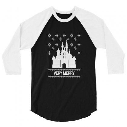 Very Merry For Dark 3/4 Sleeve Shirt Designed By Hasret