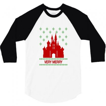 Very Merry For Light 3/4 Sleeve Shirt Designed By Hasret