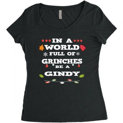 In A World Full Of Grinches Women's Triblend Scoop T-shirt Designed By Alparslan
