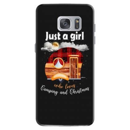 Just A Girl Who Loves Camping And Christmas Samsung Galaxy S7 Case Designed By Sengul