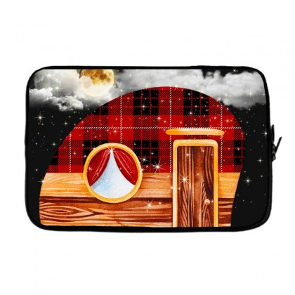 Just A Girl Who Loves Camping And Christmas Laptop Sleeve Designed By Sengul