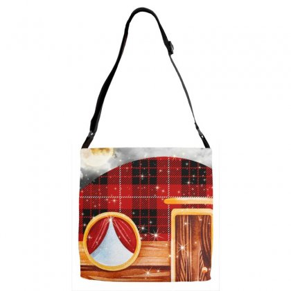 Just A Girl Who Loves Camping And Christmas Adjustable Strap Totes Designed By Sengul