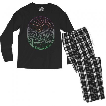 Great Sunrise Men's Long Sleeve Pajama Set Designed By Quilimo