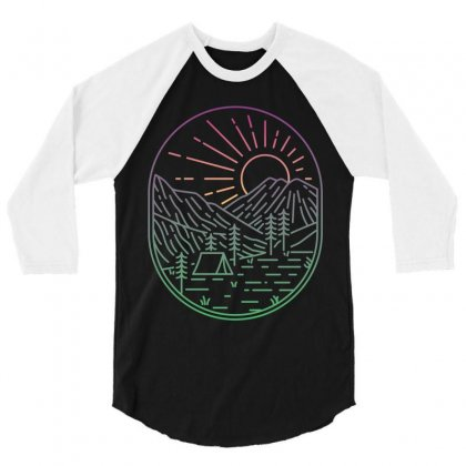 Great Sunrise 3/4 Sleeve Shirt Designed By Quilimo