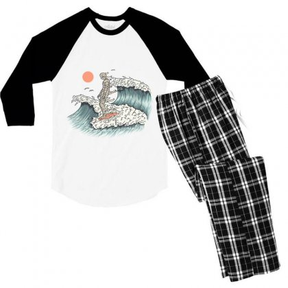 Mummy Surfing Men's 3/4 Sleeve Pajama Set Designed By Quilimo