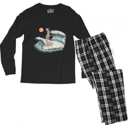 Mummy Surfing Men's Long Sleeve Pajama Set Designed By Quilimo