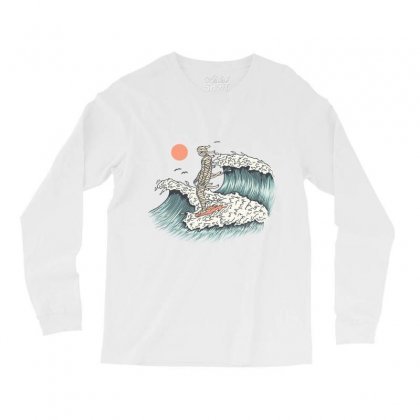 Mummy Surfing Long Sleeve Shirts Designed By Quilimo
