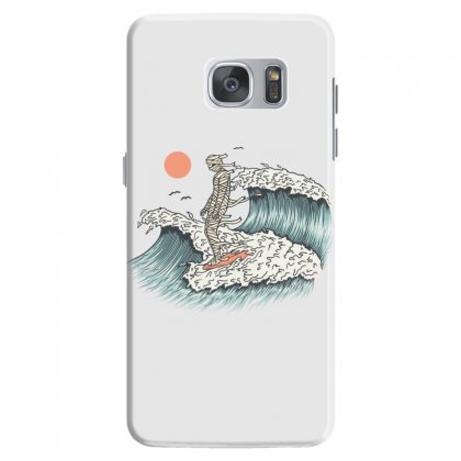 Mummy Surfing Samsung Galaxy S7 Case Designed By Quilimo