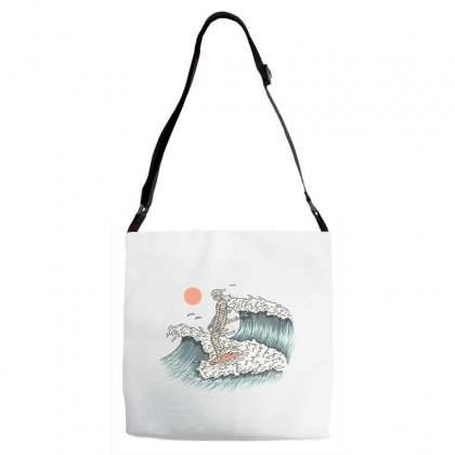 Mummy Surfing Adjustable Strap Totes Designed By Quilimo