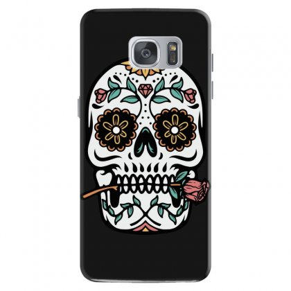 Mexican Skull Samsung Galaxy S7 Case Designed By Quilimo