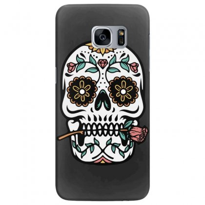 Mexican Skull Samsung Galaxy S7 Edge Case Designed By Quilimo