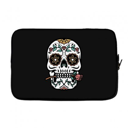 Mexican Skull Laptop Sleeve Designed By Quilimo