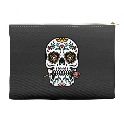 Mexican Skull Accessory Pouches Designed By Quilimo