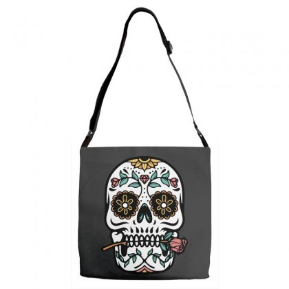 Mexican Skull Adjustable Strap Totes Designed By Quilimo