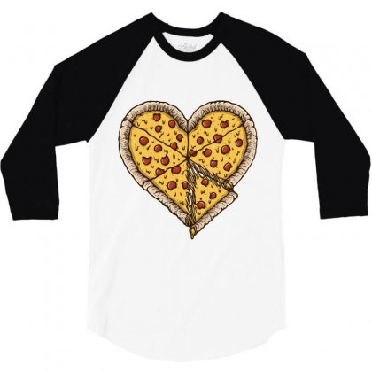 Pizza Lover 3/4 Sleeve Shirt Designed By Quilimo
