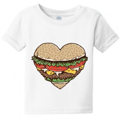 Hamburger Lover Baby Tee Designed By Quilimo