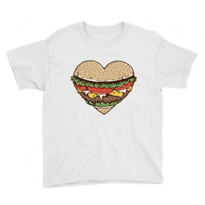 Hamburger Lover Youth Tee Designed By Quilimo
