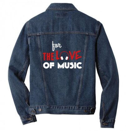 For The Love Of Music Men Denim Jacket Designed By Sr88