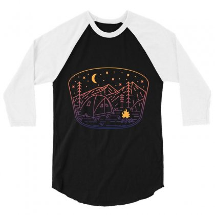 Camp Fire Line 3/4 Sleeve Shirt Designed By Quilimo
