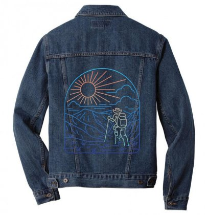 Hiker Line Men Denim Jacket Designed By Quilimo
