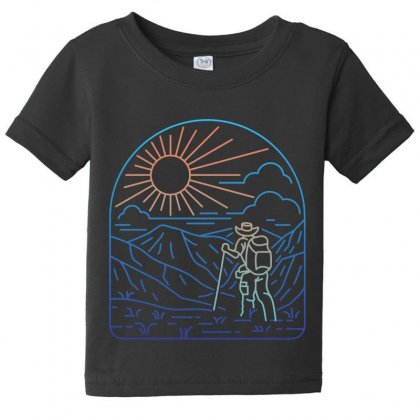 Hiker Line Baby Tee Designed By Quilimo