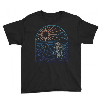 Hiker Line Youth Tee Designed By Quilimo