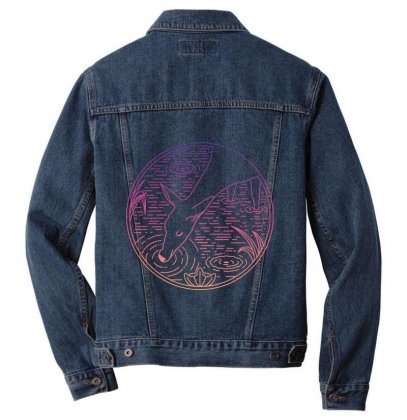 Deer Line Men Denim Jacket Designed By Quilimo