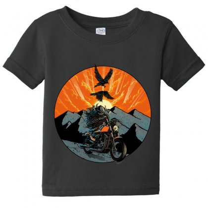 Viking Rider Baby Tee Designed By Quilimo