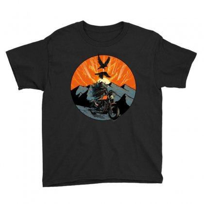 Viking Rider Youth Tee Designed By Quilimo