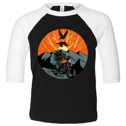 Viking Rider Toddler 3/4 Sleeve Tee Designed By Quilimo
