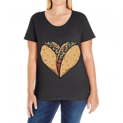 Tacos Lover Ladies Curvy T-shirt Designed By Quilimo