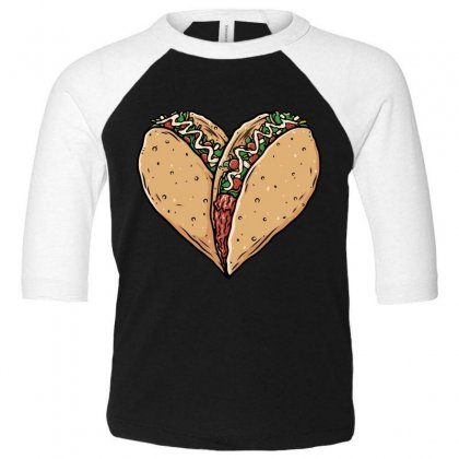 Tacos Lover Toddler 3/4 Sleeve Tee Designed By Quilimo