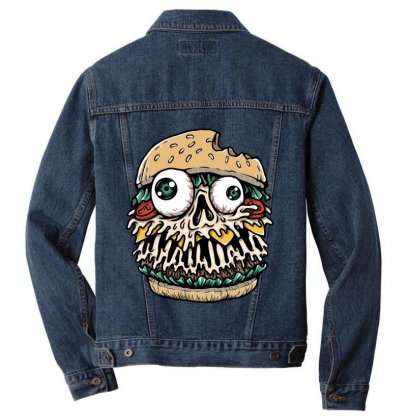 Hamburger Monster Men Denim Jacket Designed By Quilimo