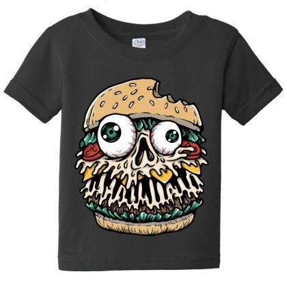 Hamburger Monster Baby Tee Designed By Quilimo