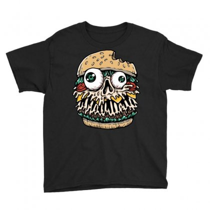 Hamburger Monster Youth Tee Designed By Quilimo