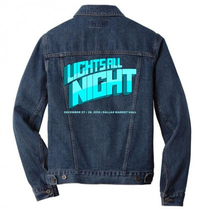 Lights All Night Festival 2019 Men Denim Jacket Designed By Cahayadianirawan