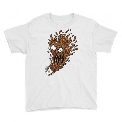 Coffee Monster Youth Tee Designed By Quilimo